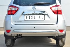 Nissan Terrano 2014-  Защита заднего бампера d75х42 (дуга) NTRZ-001798